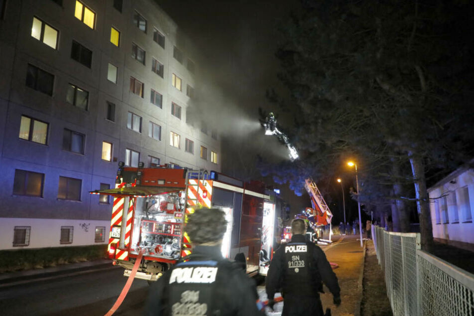 In der Asylunterkunft in der Strassburger Straße ist am Mittwochabend ein Feuer ausgebrochen.