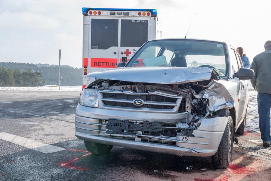 An den Autos entstand ein Totalschaden.