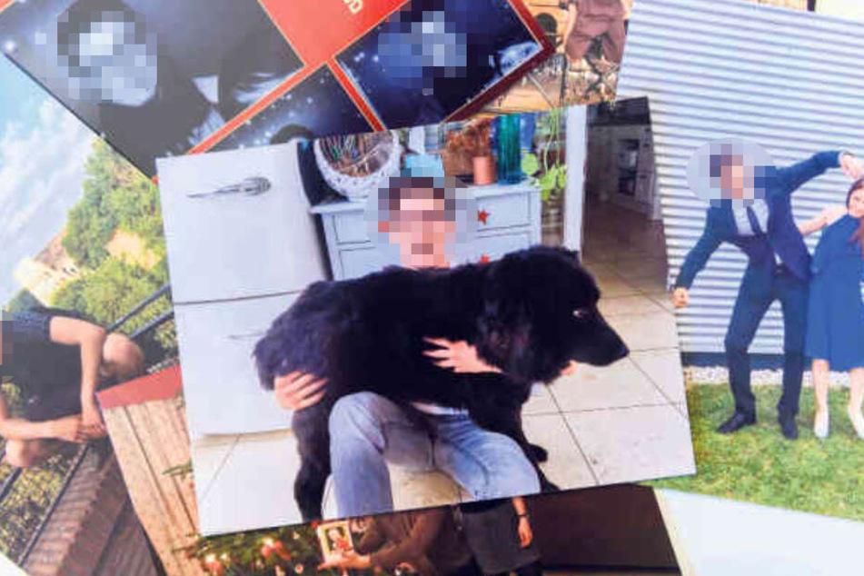 Keine Spur von Depressionen: Christian gilt als fröhlich, liebt Familienhund Bo (6) und ist - wie hier im Anzug mit Schwester Sarah (22, r.) für jede Kasperei zu haben.
