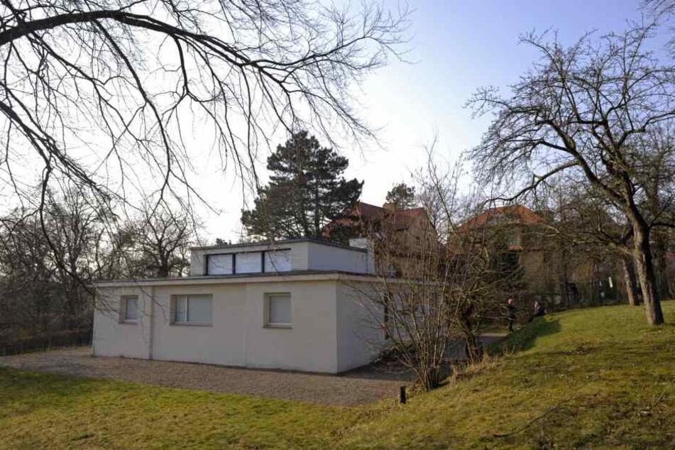 """Die beschädigte Skulptur stand am """"Haus am Horn"""" in Weimar."""