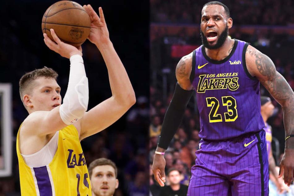 Mega-Star LeBron James feiert Berliner Basketball-Wunderkind