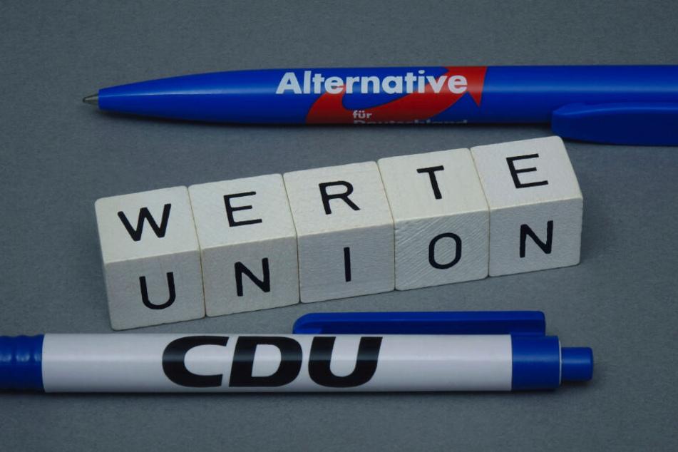 Wie nah steht die Werteunion der AfD? Darüber wird derzeit heftig gestritten. Sie selbst sieht sich als konservative Basisbewegung von CDU/CSU.
