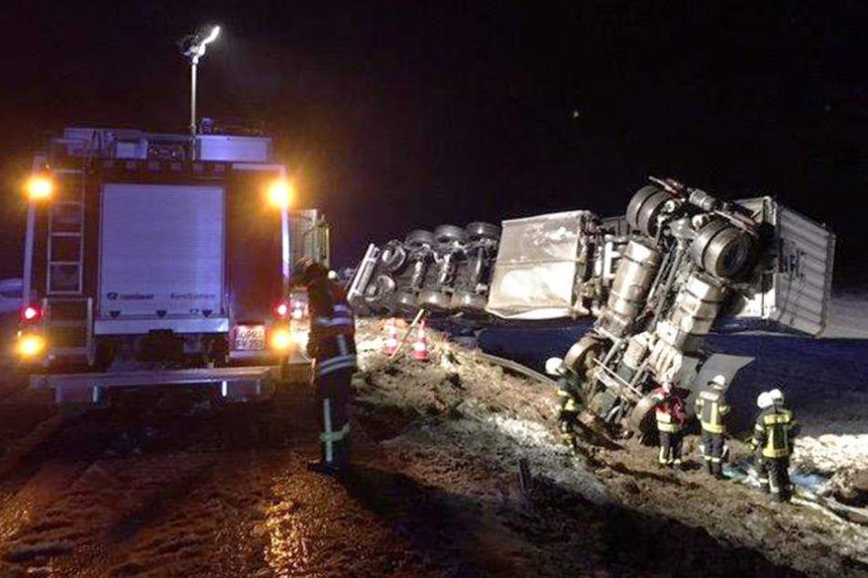 Den Einsatzkräften bot sich ein nicht alltäglicher Blick an der Unfallstelle.