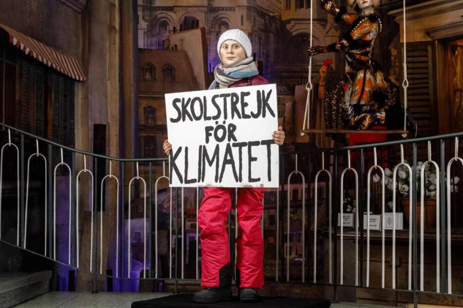 Für immer im Schulstreik für das Klima: Im Hamburger Panoptikum steht die weltweit erste Wachsfigur von Greta Thunberg.