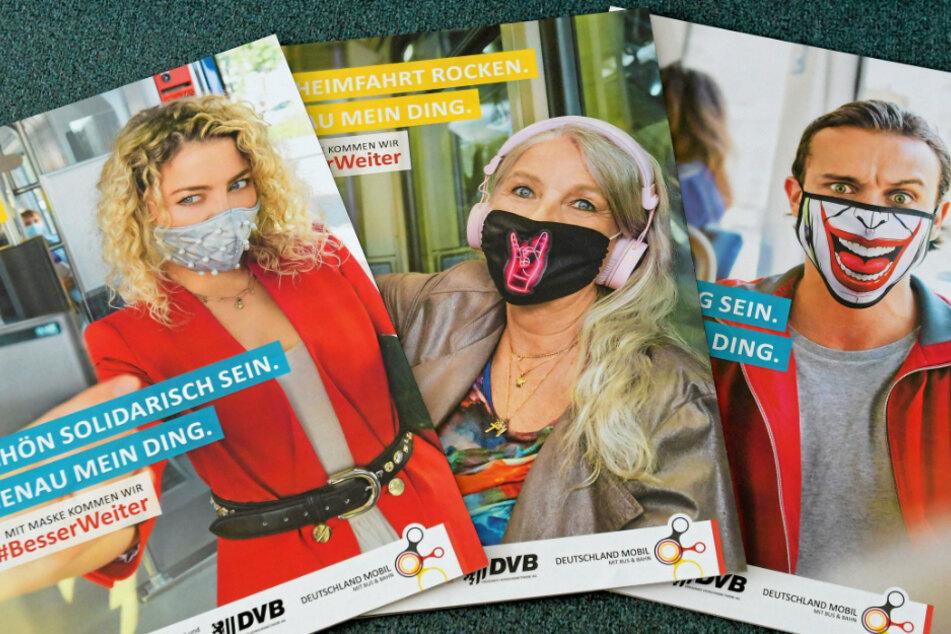 Mit Plakaten wie diesen sollen Masken-Muffel überzeugt werden