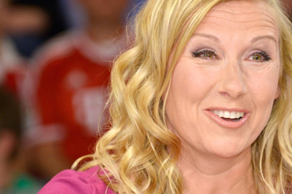"""Das Foto aus dem Jahr 2013 zeigt Fernsehgarten-Moderatorin Andrea Kiewel in der ZDF-Talksendung """"Maybrit Illner""""."""