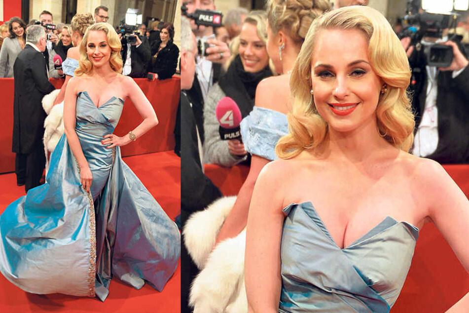 Beim Wiener Opernball stand Silvia Schneider (35) allein im Rampenlicht.