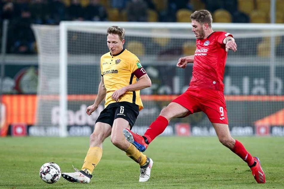 Fabian Klos (re.) bekamen Marko Hartmann und die gesamten Hintermannschaft nicht in den Griff.