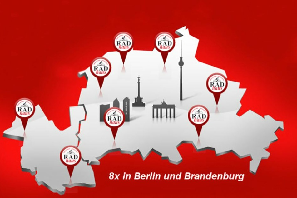 An acht verschiedenen Standorten könnt Ihr das RADhaus in Berlin und in Potsdam finden.