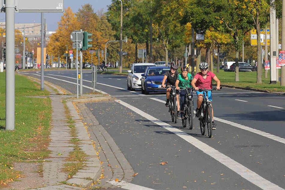 St. Petersburger Straße in Dresden: So geht es mit dem Problem-Radweg weiter