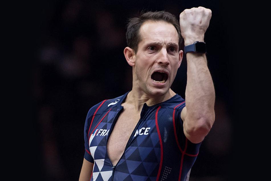 Renauld Lavillenie hält nun auch den Rekord für den verrücktesten Stabhochsprung.