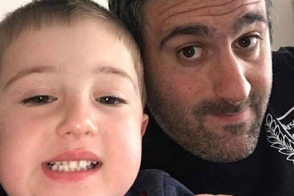 Simon Harris und sein Sohn Luke.