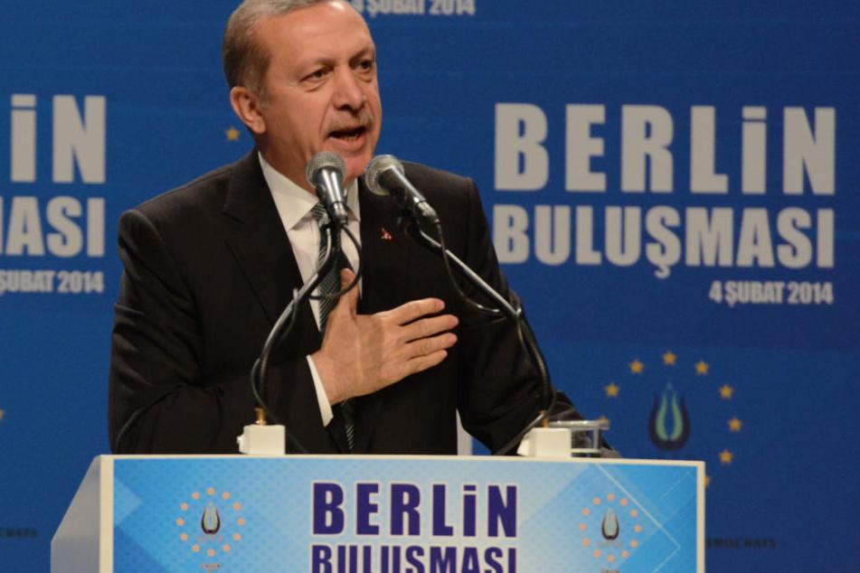 Recep Tayyip Erdogan in Berlin im Jahr 2014 (Archivbild).