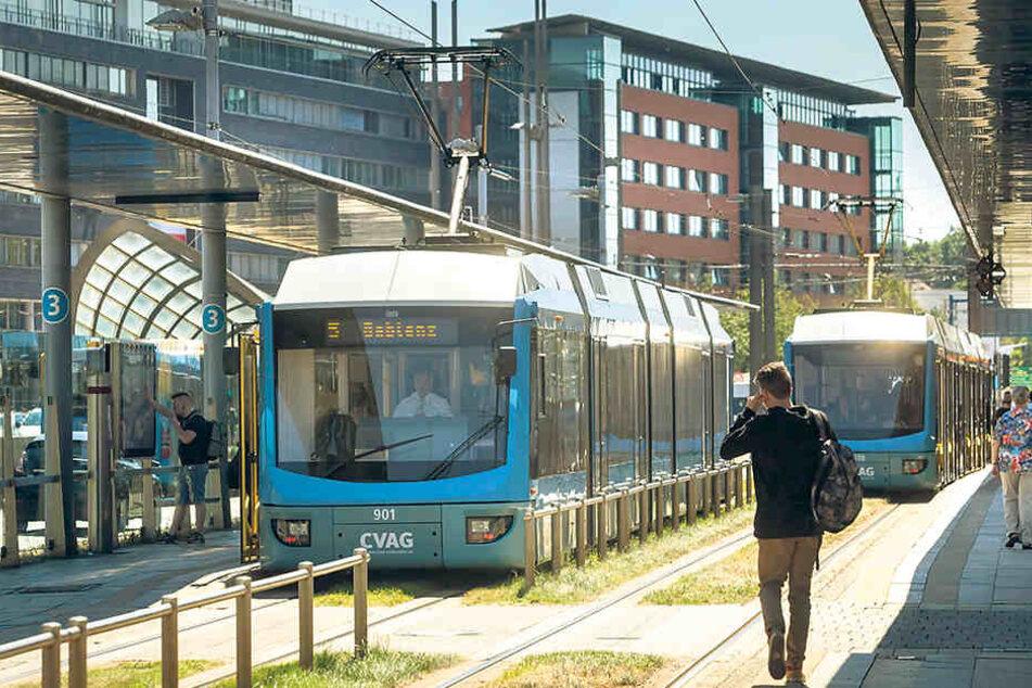 Straßenbahn und Bus fahren ist in Chemnitz günstiger als in anderen Städten.