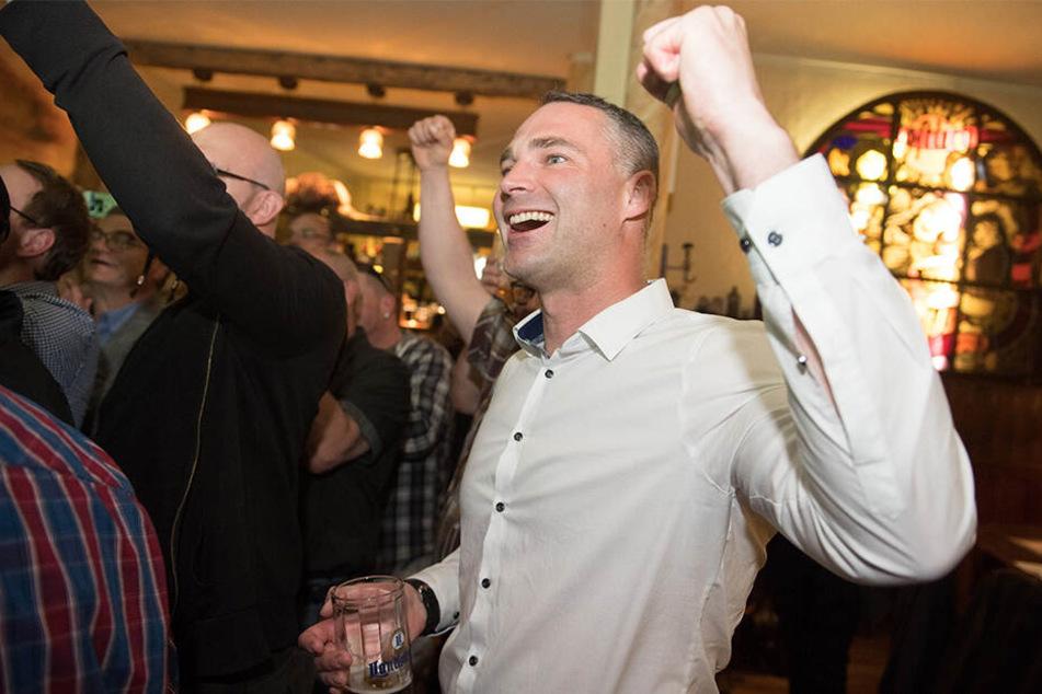 Sebastian Wippel (36, AfD) hatte den ersten Wahlgang mit 36,4 Prozent gewonnen.