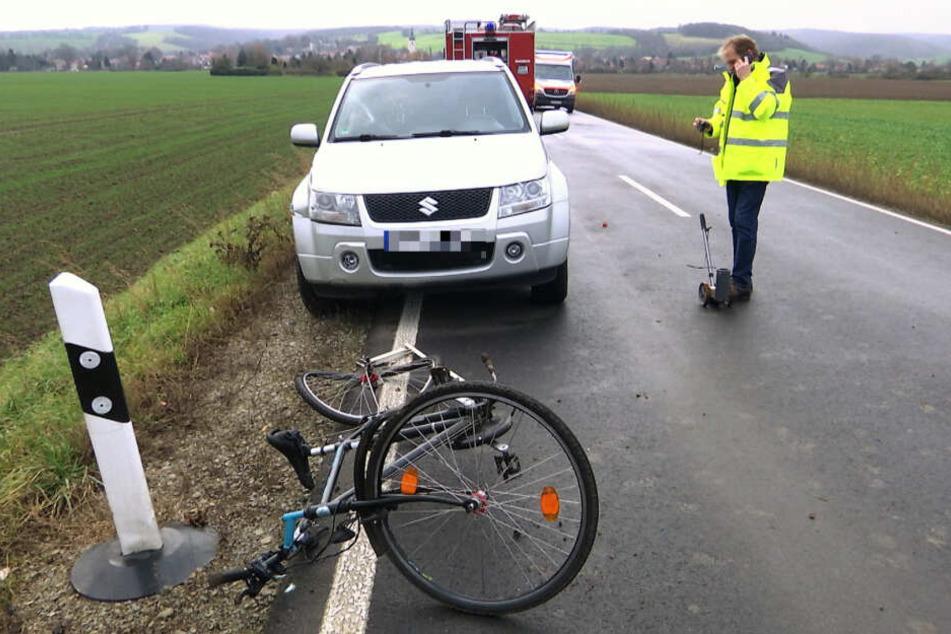 Durch die Kollision erlitt der Radfahrer tödliche Verletzungen.