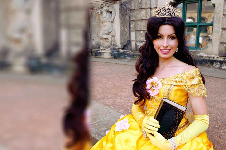 Prinzessin Bella zeigt dem märchenhaften Nachwuchs erste Tanzschritte beim Schnupperkurs.