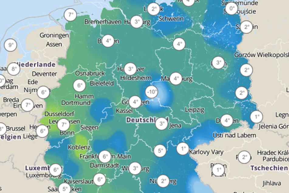 Die gefühlten Temperaturen sacken in den kommenden Tagen auf einstellige Werte ab.