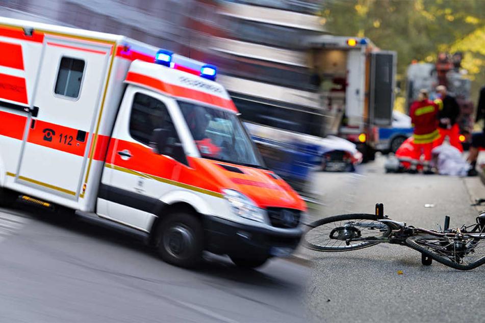 Weil ein Autofahrer den Radfahrer übersah, kam es zum Zusammenstoß (Symbolbild).
