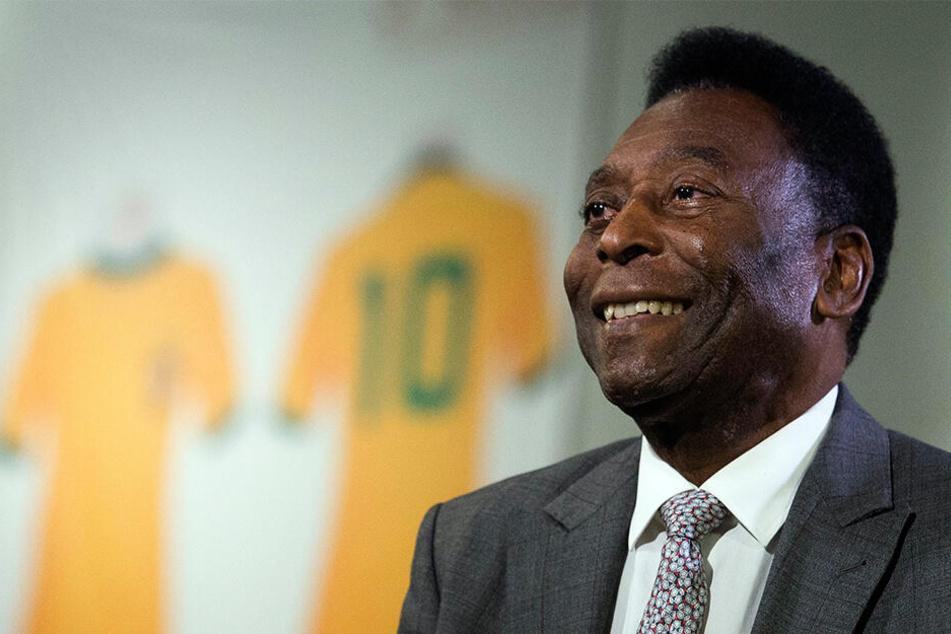 Große Sorge um Pelé: Die Fußball-Ikone liegt erneut im Krankenhaus.