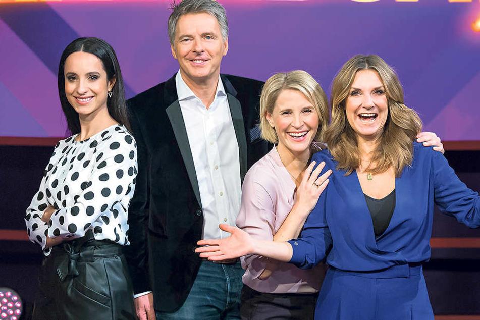 Das neue Moderatoren-Quartett (v.l.n.r.): Stephanie Stumph, Jörg Pilawa,  Susan Link und Kim Fisher.