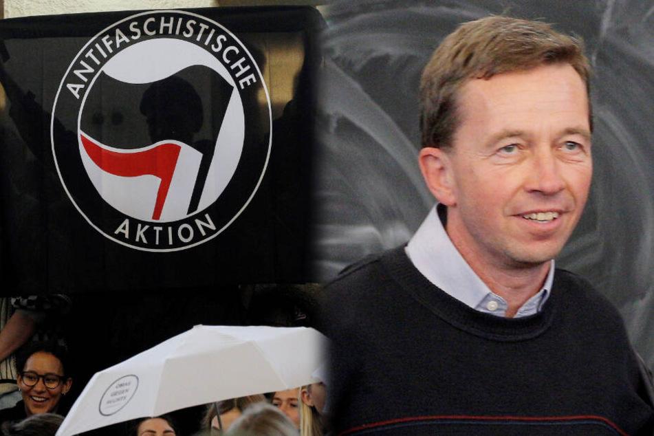 AfD-Gründer Lucke: Papierkugeln und Gebrüll stoppen seine Uni-Vorlesung