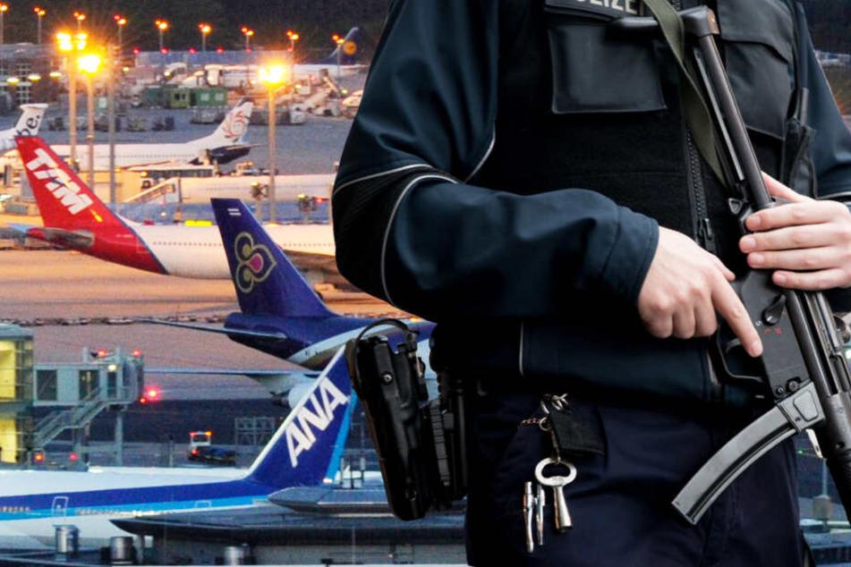 Die 29-Jährige wurde nach ihrer Ankunft am Flughafen Frankfurt von der Polizei festgenommen (Symbolbild).