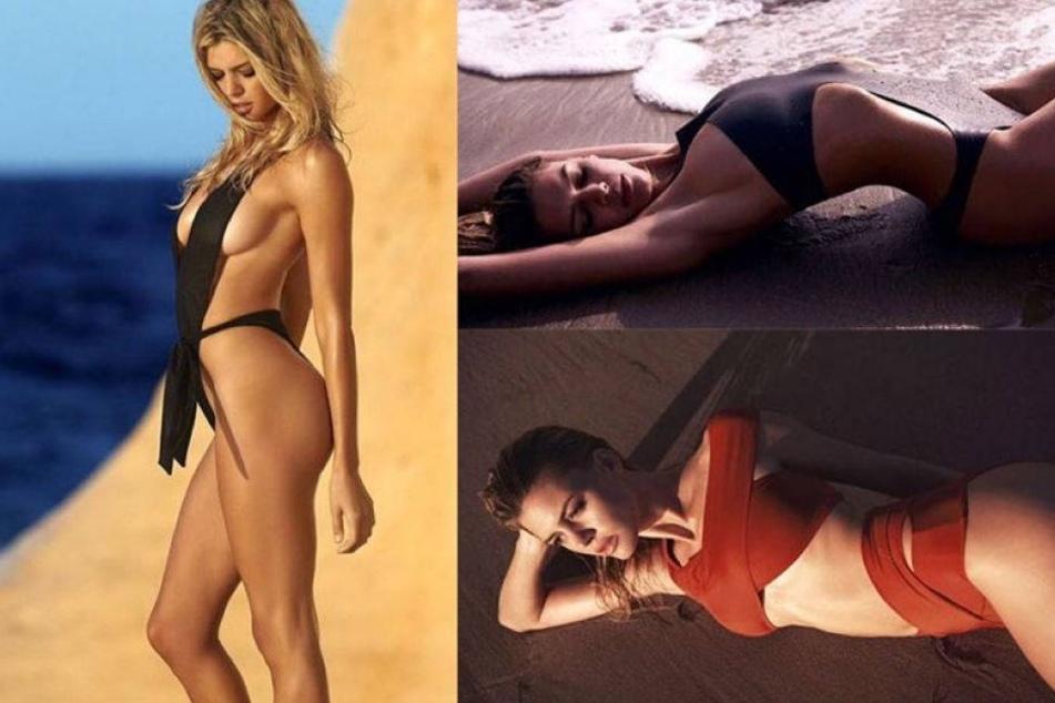 Leonardo DiCaprios Ex gibt schon mal die Strandnixe