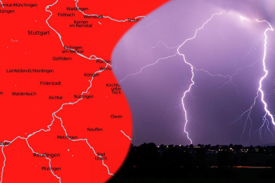Starke Gewitter, Orkanböen: Wetterdienst hebt Warnung auf!