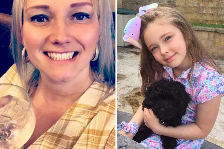 Mutter Katy (36) und ihre Tochter Isabelle (10).