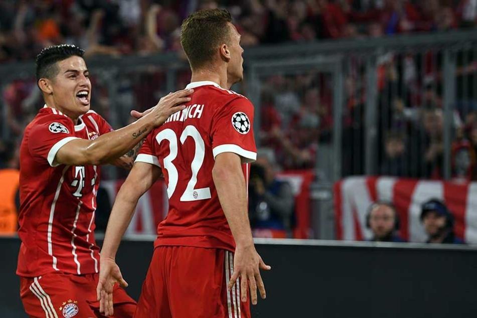 Hier jubelte Joshua Kimmich noch über seinen Treffer zur 1:0-Führung für die Bayern.