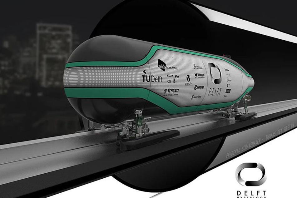 Die Grafik ist ein Entwurf einer Transportkapsel von Studenten der Technischen Universität Delft, die bereits für einen Wettbewerb eingereicht wurde.