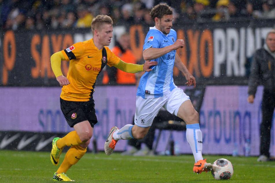 Zuletzt in Deutschland spielte Volz (re.) bei 1860 München.