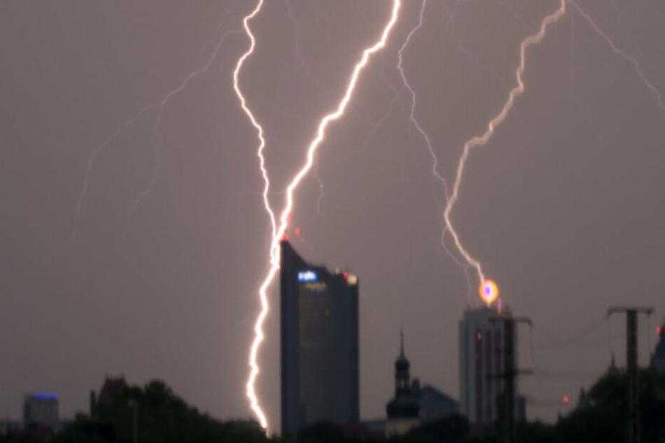 Warnung! Gewitter, Wind und Hagel in und um Leipzig erwartet
