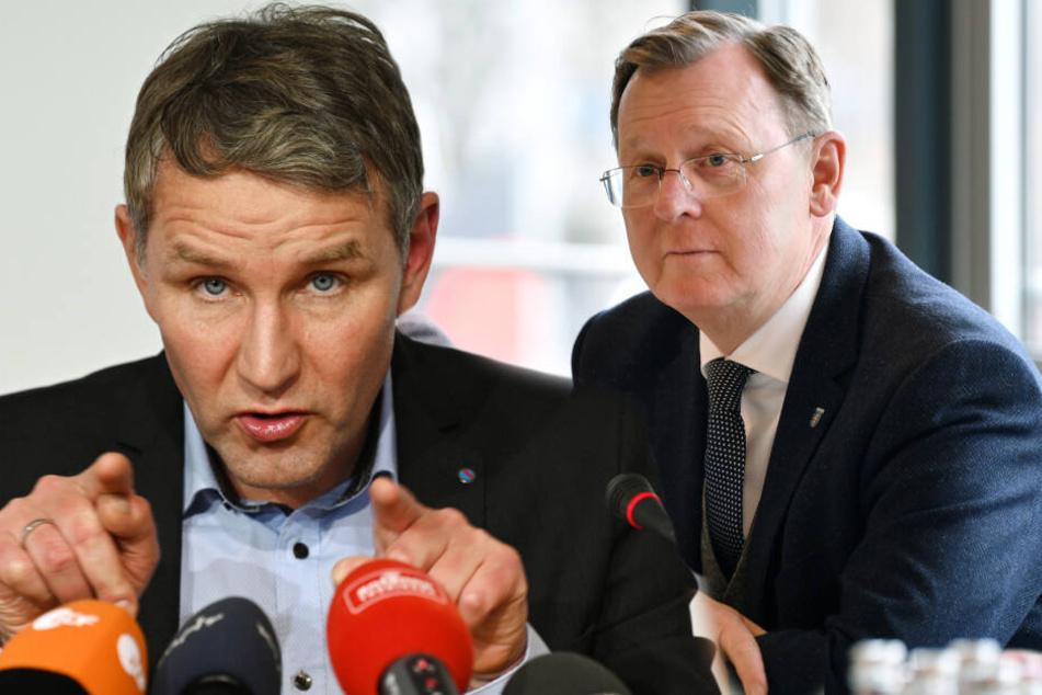 Björn Höcke (47, links) und Bodo Ramelow (64) stehen am Mittwoch zur Wahl. (Bildmontage)