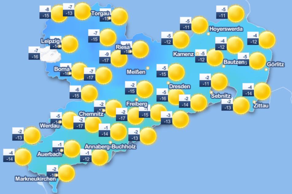 Spätestens am Sonntag soll es laut Deutschem Wetterdienst in ganz Sachsen sonnig werden. Und auch die Temperaturen steigen wieder etwas.