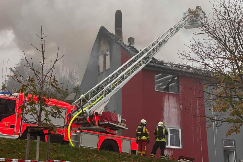 Erst vor Kurzem renoviert! Haus in Gotha in Flammen