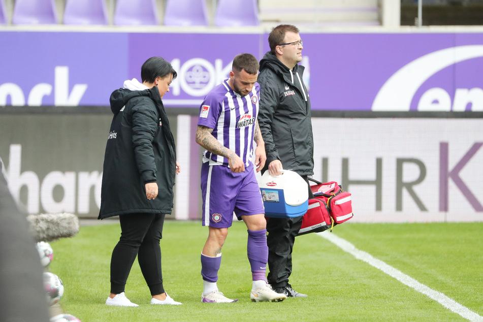 Calogero Rizzuto musste verletzt vom Platz.
