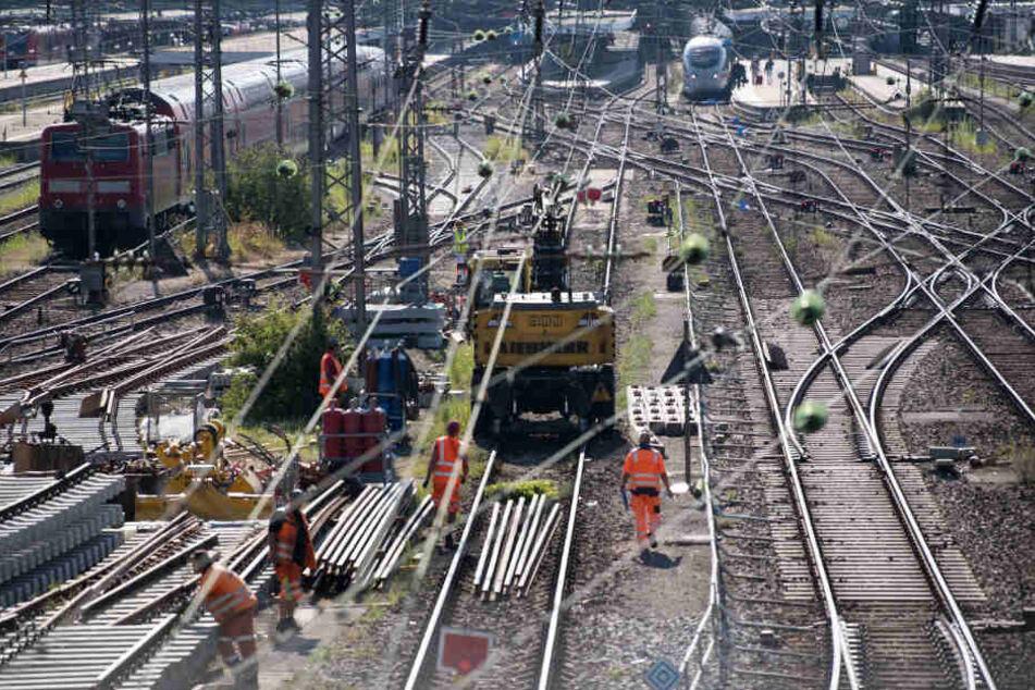 Gleisarbeiten vor dem Hauptbahnhof München. (Symbolbild)