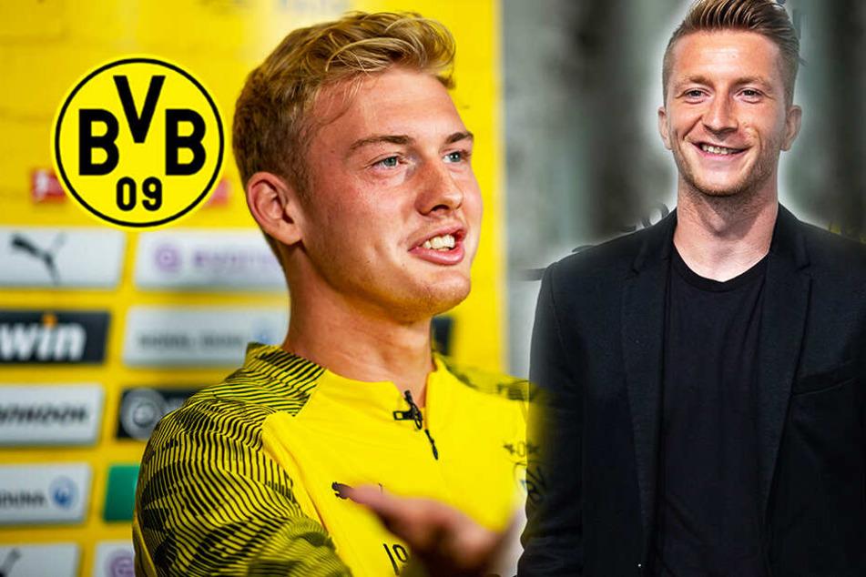 """BVB-Kapitän Marco Reus veräppelt Brandt: """"Was ich mir von ihm wünsche..."""""""