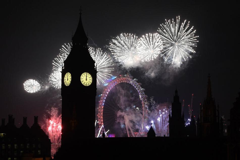 In London gab es ein zwölminütiges Feuerwerk.