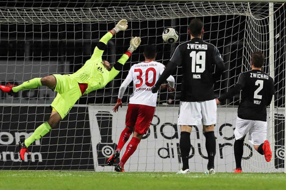 Schon in der 9. Minute legte Fortuna Köln mit einem Treffer von Oliviera Souza den Grundstein zum Sieg.
