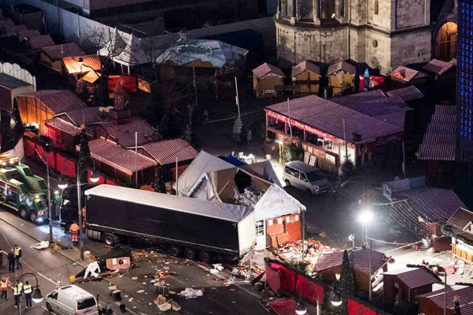 Der Terrorist Anis Amri fuhr mit einem LKW über den Weihnachtsmarkt am Breitscheidplatz.