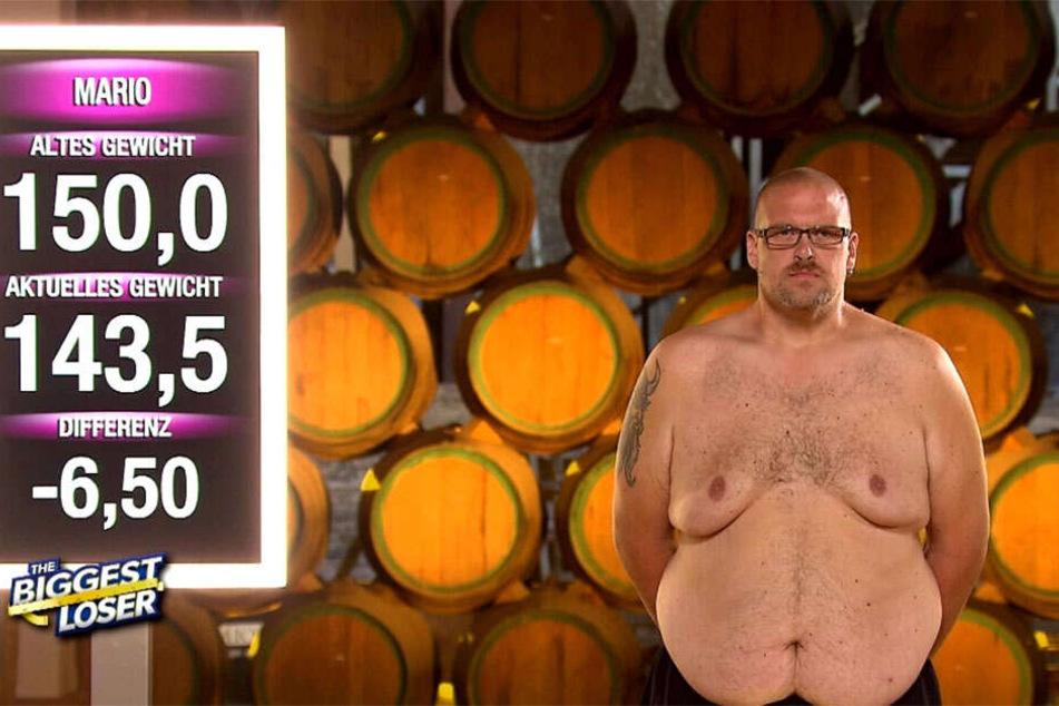 In der letzten Woche nahm Mario noch einmal stolze 6,5 Kilo ab. Sein aktuelles Gewicht: 143,5 Kilo.