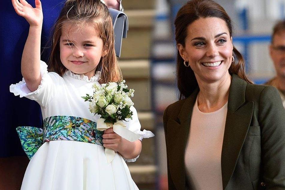 Prinzessin Charlotte (3) musste während einer Autofahrt ganz dringend etwas erledigen. Kate begleitete ihre Tochter natürlich aufs stille Örtchen.