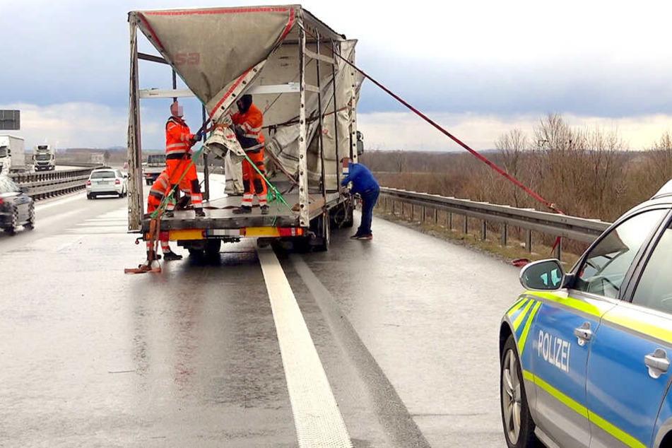 Gefährliche Situationen spielten sich am Montagnachmittag auf der A14 ab.
