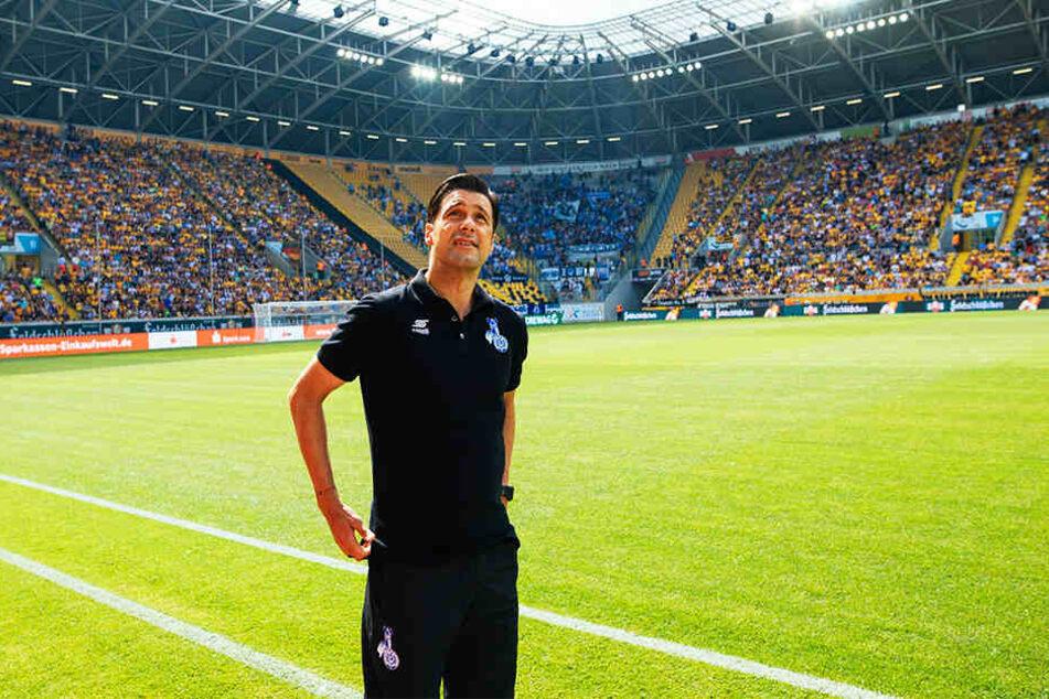 MSV-Coach Ilia Gruev war schon im Vorjahr von der Kulisse im DDV-Stadion beeindruckt. Damals verlor seine Mannschaft unglücklich. Diesmal wollen die Zebras etwas Zählbares mitnehmen.