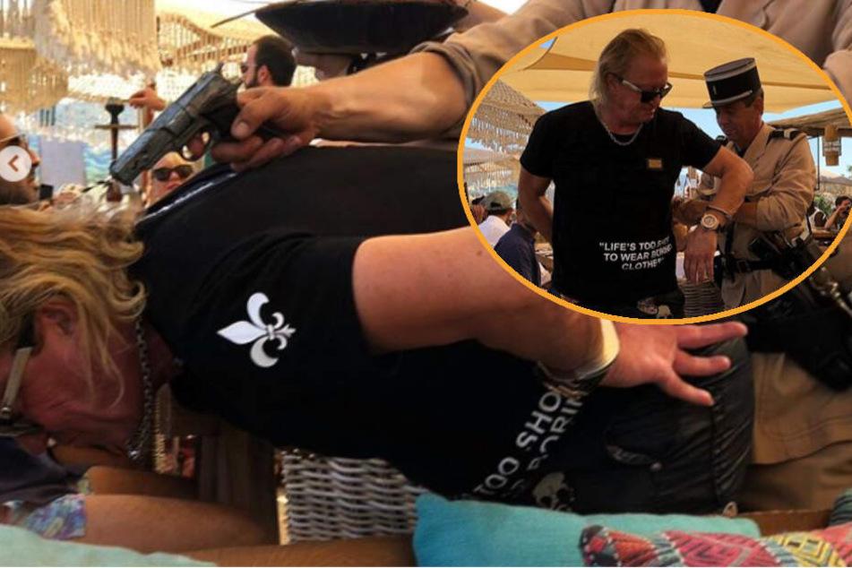 Schock für die Fans: Hier wird Robert Geiss mit Waffe am Kopf in St. Tropez verhaftet