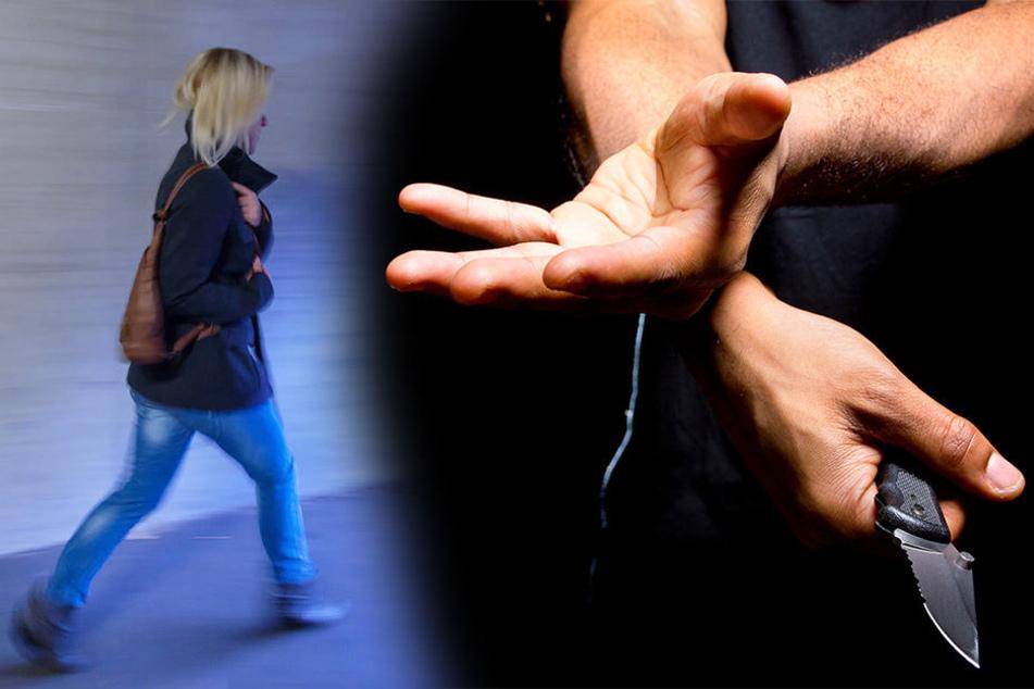 Junger Mann springt 44-Jähriger in den Weg und bedroht sie mit Messer