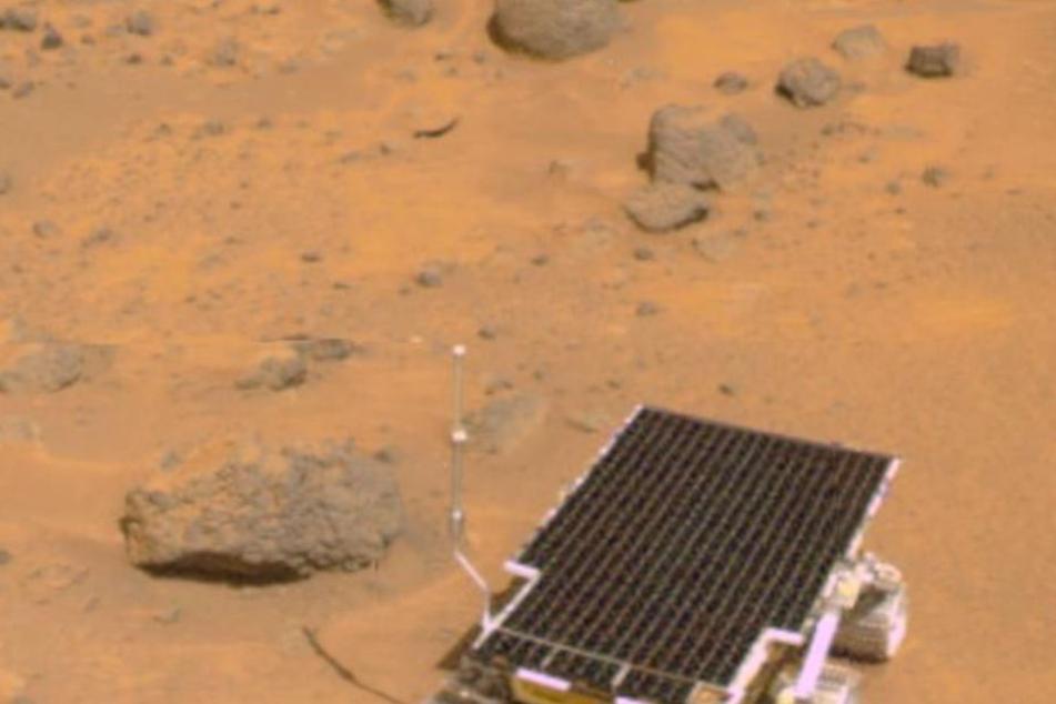"""Die einzigen """"Sklaven"""" auf dem Mars: Rover."""